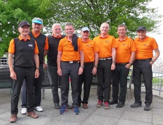 Von links nach rechts: Ernst Härterich, Jürgen Kanzleiter, Jürgen Ulmer, Peter Conrad, Peter Entenmann, Dieter Kallis, Günter Schrödlen und Eberhard Jopp